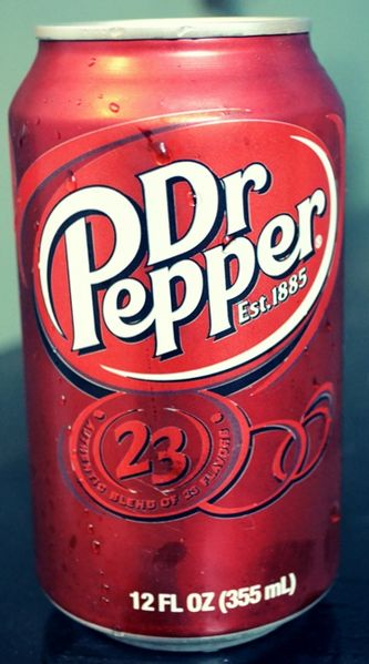 Dr Pepper. Nectar of the artificial gods.