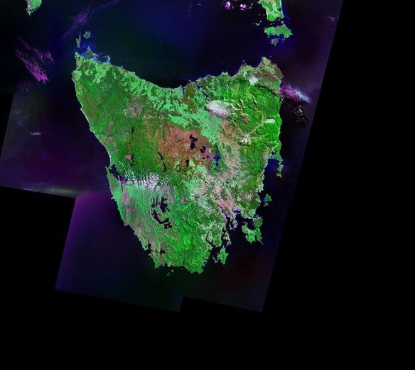 Tasmania from space (source: Wikimedia Commons)