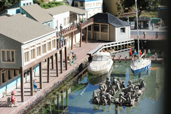 The (Lego) seals at Pier 39. Much less smelly and noisy than the real ones.
